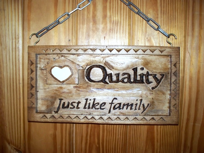 Quality Home Health Sign Wood Carvings