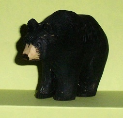 Wood Carving of a Black Bear Wood Carvings