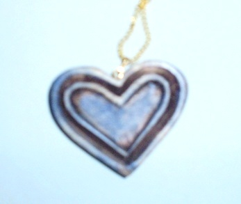 antique look heart necklace  Wood Carvings