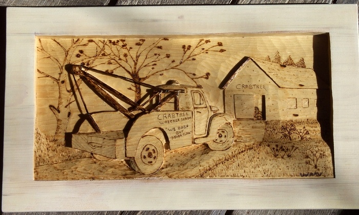Crabtree Tow Truck                Wood Carvings