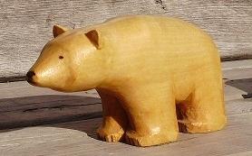 Hand Carved Polar Bear   Wood Carvings
