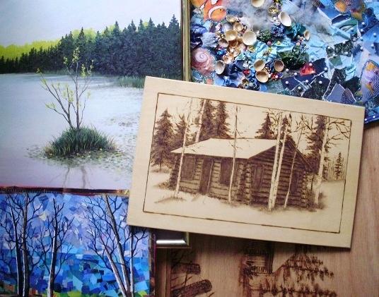 Wood Burning and Art Work: M10261 Wood Carvings