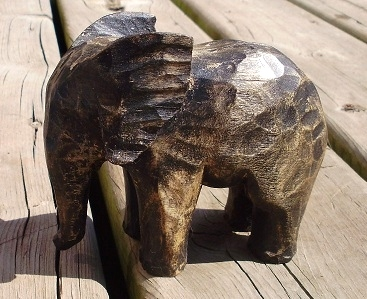 Hand Carved Elephants-  Wood Carvings