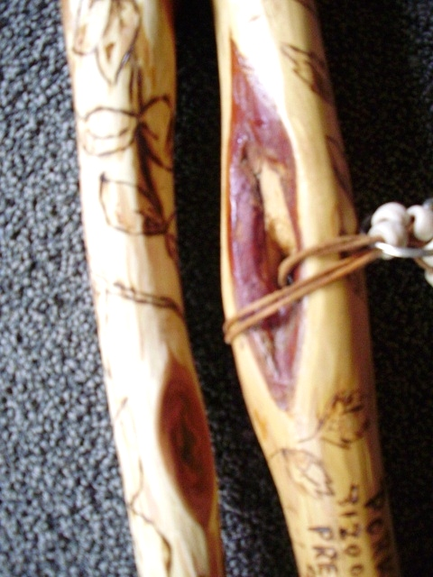 Hand Carved Diamond Willow Walking Sticks Wood Carvings