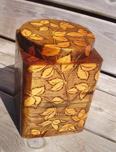 Boxes and Pots made from 140 year old rescued wood Wood Carvings