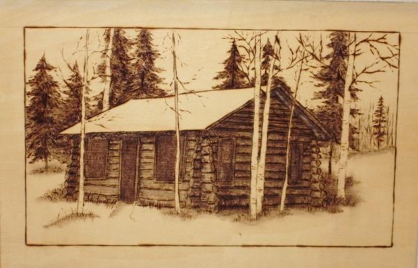 Wood Carvings Log Cabin Wood Burning Wood Burning And Art