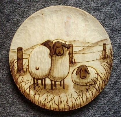 Hand Carved Sheep  Wood Carvings