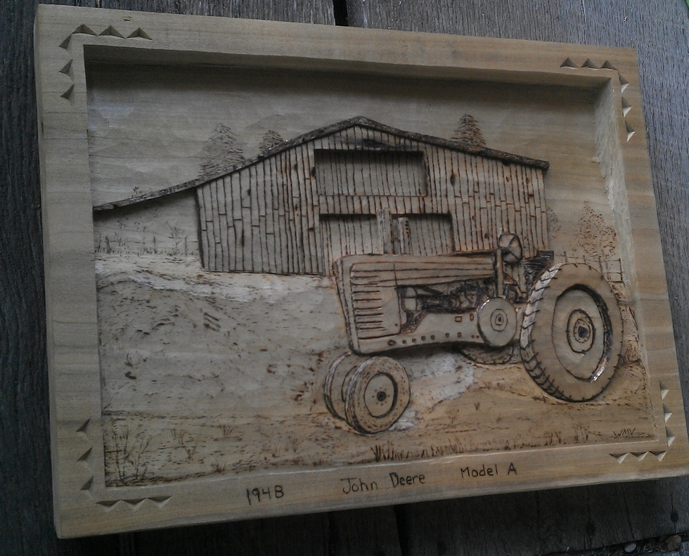 1948 JOHN DEERE TRACTOR Wood Carvings