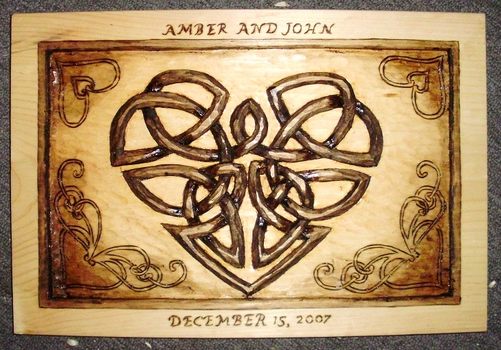 Hand Carved Celtic Knot Plaque  Wood Carvings