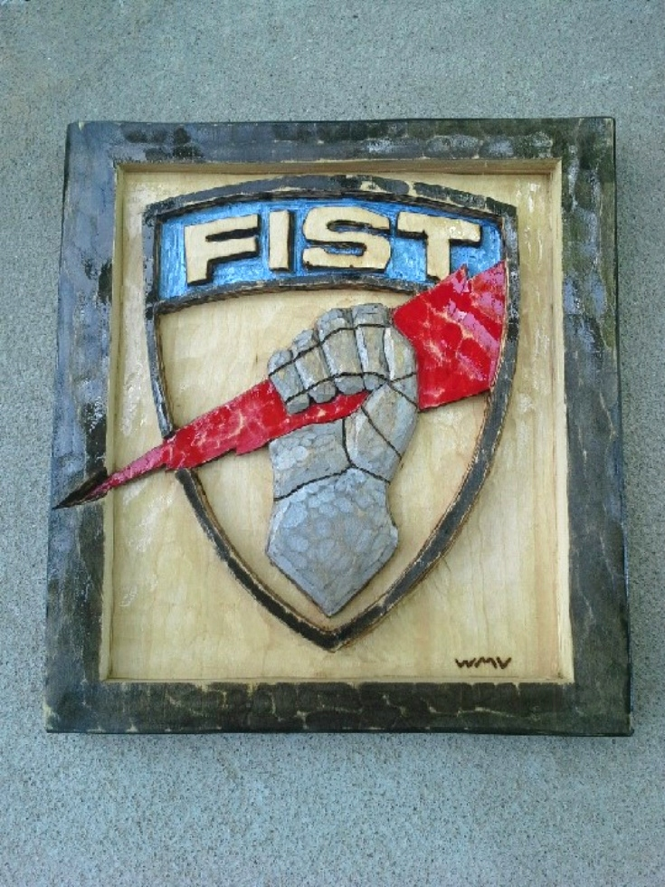 Fire Support Team Army Badge Wood Carvings