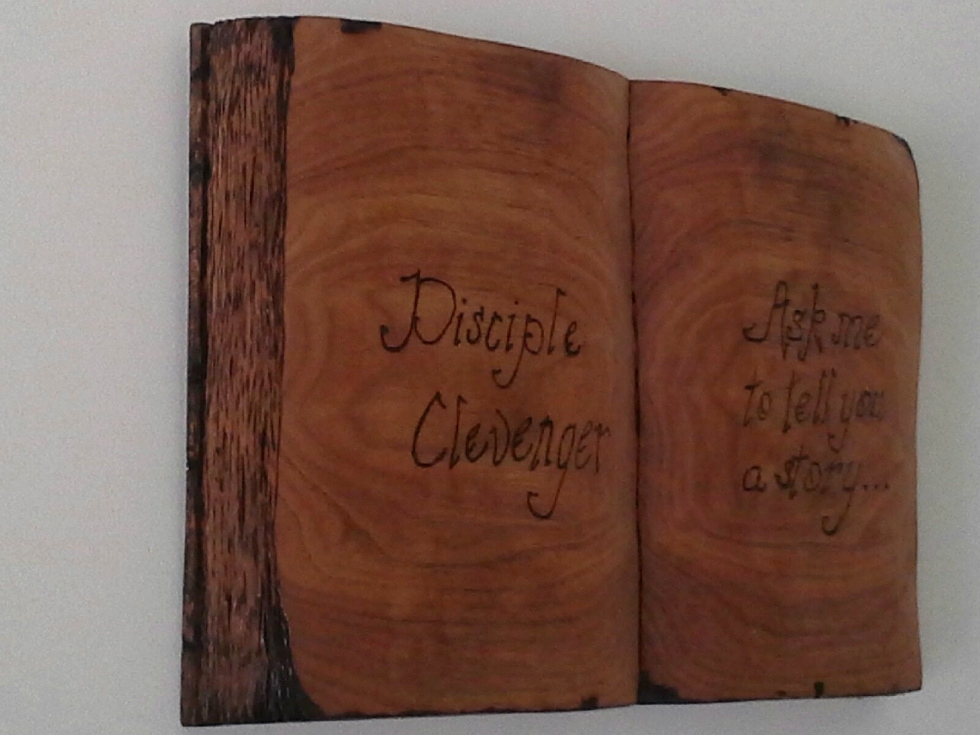 Hand Carved Open Book Plaque  Wood Carvings